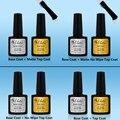 2 Pcs 7.3ml Gelartist Nail Gel Polish Soak Off Varnish Led UV Gel (1 Base Coat+1 No Wipe Matte Top Coat) diy Brand Gels Nails