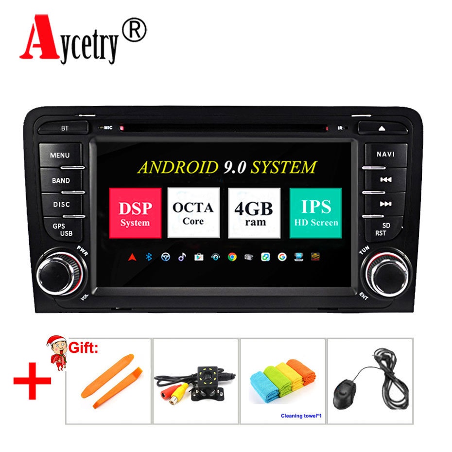 Aycetry IPS DSP For Audi A3 S3 2002 2013 4G RAM 8 core 2 din Android
