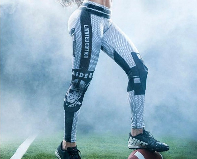 Women's Sports Yoga Pants Compression Running Tights Leggings Gym Athletic Skinny Fitness Sportswear American football Trousers (2)
