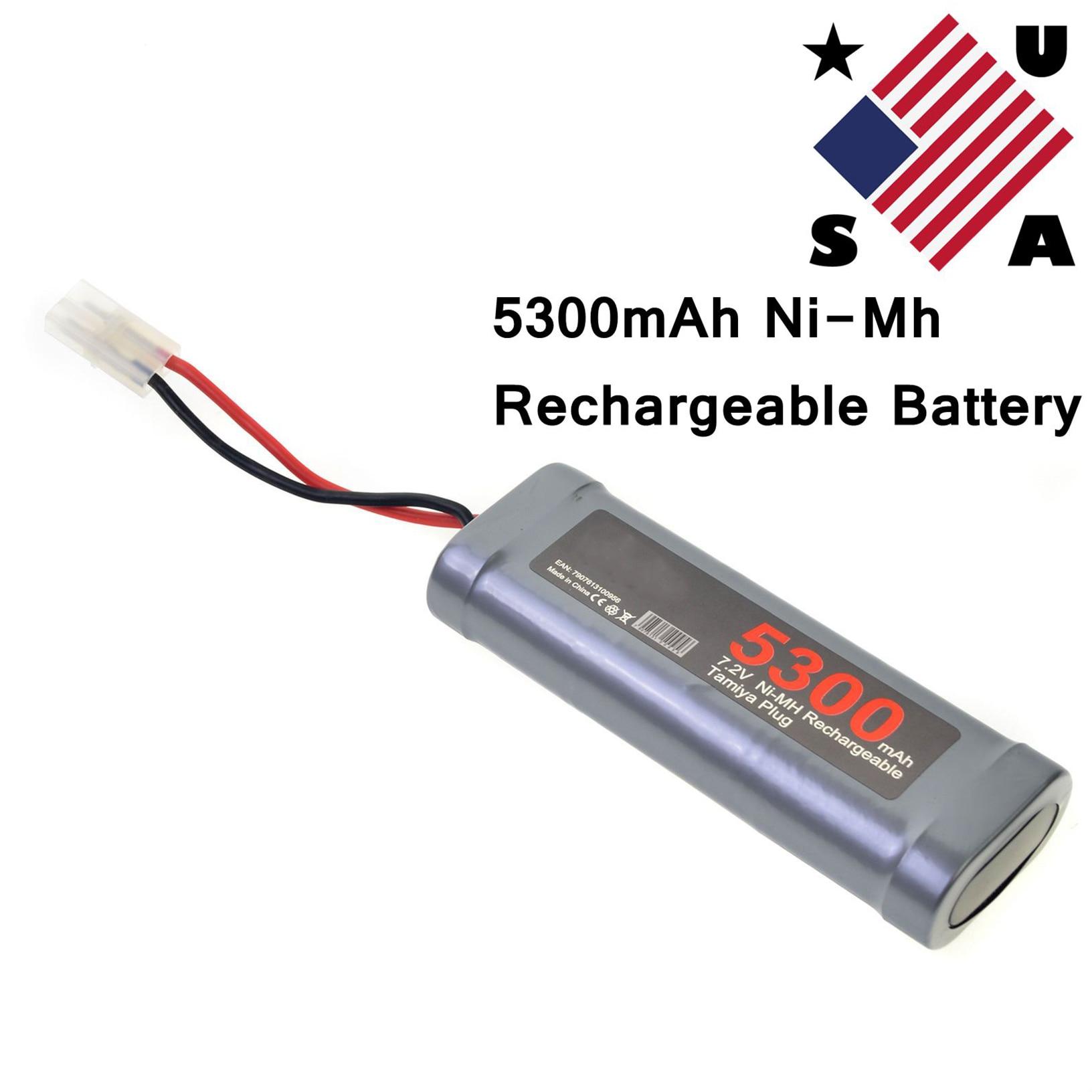 Charger USA 2 pcs 7.2V 3800mAh Ni-Mh rechargeable battery pack RC Tamiya Plug