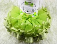 High Quality Green Red Yellow Dog Skirt Dress Pet Cat Tutu Skirt Princess Wedding Dress Dog