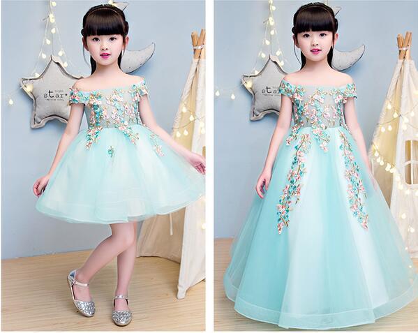 Elegant Girls Shoulderless Wedding Dress Lace Appliques
