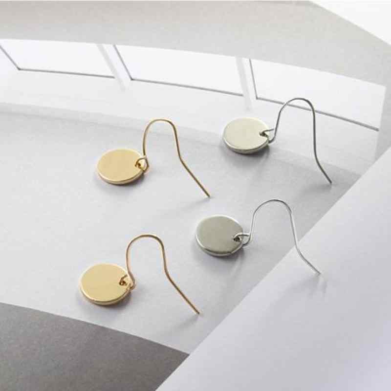 Mới Thời Trang Cá Tính Tối Giản Kim Loại Hình Học Mini-đĩa Bông Tai, Hoa Tai vòng Jewelry Bán Buôn Và Bán Lẻ Quà Tặng của Phụ Nữ