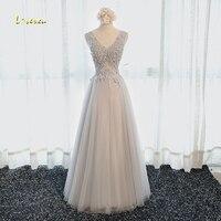 Loverxu Charmant Applicaties V-hals Lace Up A-lijn Prom Dress 2017 Hot Koop Kralen Tank Celebrity Jurk Vestido de Festa Plus Size