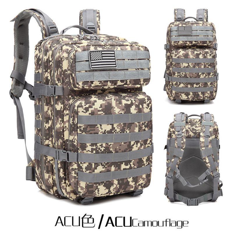 2018 militaire tactique sac à dos en plein air Sport randonnée voyage Camping chasse touristique Trekking sac à dos Camo sac mâle sac à dos