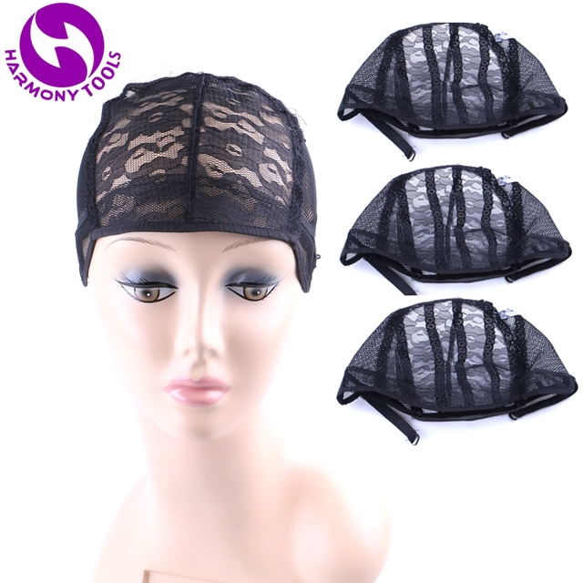 HARMONY 20 Pieces breathable mesh weaving wig caps for making wigs with adjustable strap (Black Brown Blonde in stock) 3