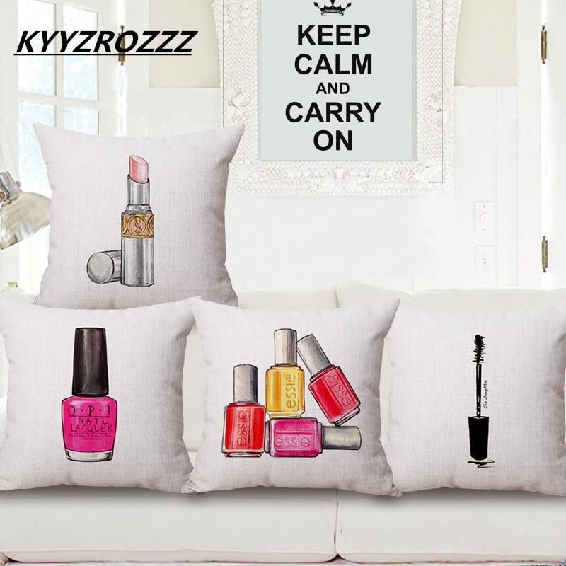 Fashion Cushion Cover Lipstick Pillow Perfume bottle Decorative Linen Cotton Sofa Car Chair Cushions Throw Pillow cojines