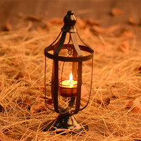 2017 Vintage Metal Hollow Hanging Lantern Beautiful Candle Holder Articles White Moroccan Candlestick Garden Decor