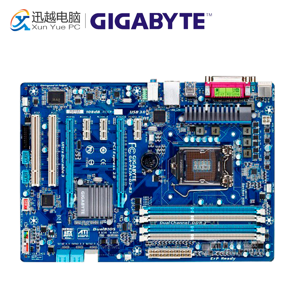 Gigabyte GA-P67A-D3-B3 Desktop Motherboard P67A-D3-B3 P67 LGA 1155 i3 i5 i7 DDR3 32G SATA3 ATX цены