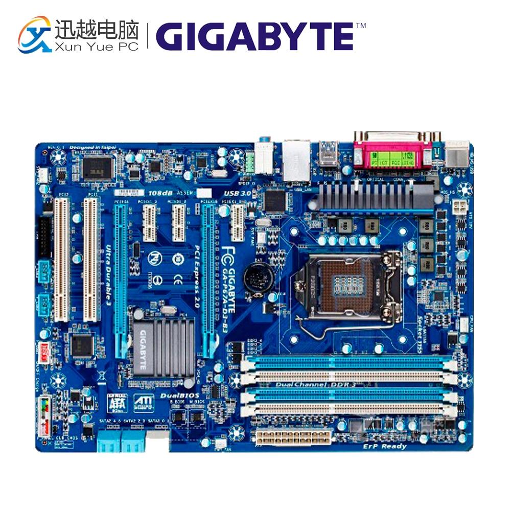 Gigabyte GA-P67A-D3-B3 Desktop Motherboard P67A-D3-B3 P67 LGA 1155 i3 i5 i7 DDR3 32G SATA3 ATX maximus iv extreme p67 full tested m4e motherboard 1155 pin b3