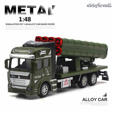 Abbyfrank 1:48 High Simulation Pull Back Model Cars Military Model Missile Car Vehicle Toys For Children Brinquedos Educativo