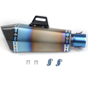 Image 3 - 36 51mm Universal CNC Motorcycle Exhaust Pipe With Muffler For Kawasaki z1000sx z1000 sx z750r zx10r zx10 r zx6r zx636