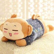 Cute Monkey Cartoons Pillow Stuffed Plush Animals Sleeping Toy Peluches Grandes Kids Doll Oyuncak Bebek Toys For Children 50G437