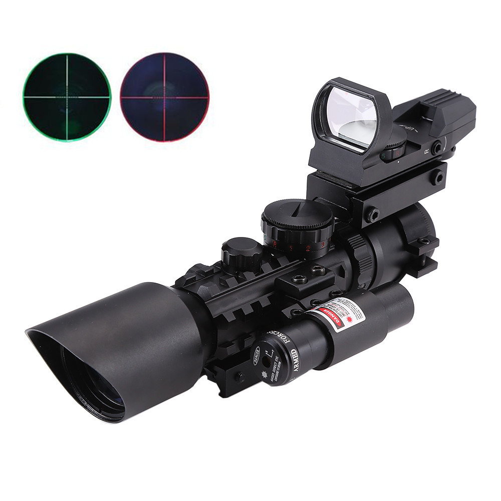 Hunting Riflescopes Red/Green Dot Airsoft Air Guns Rifle Scope Tactical Optic Reflex Sight Lens Weapons Holographic Sniper Sight 4x30 hunting riflescope red green mil dot sight scope 11 20mm mount rail tactical rifle airsoft air guns rifle sight scopes