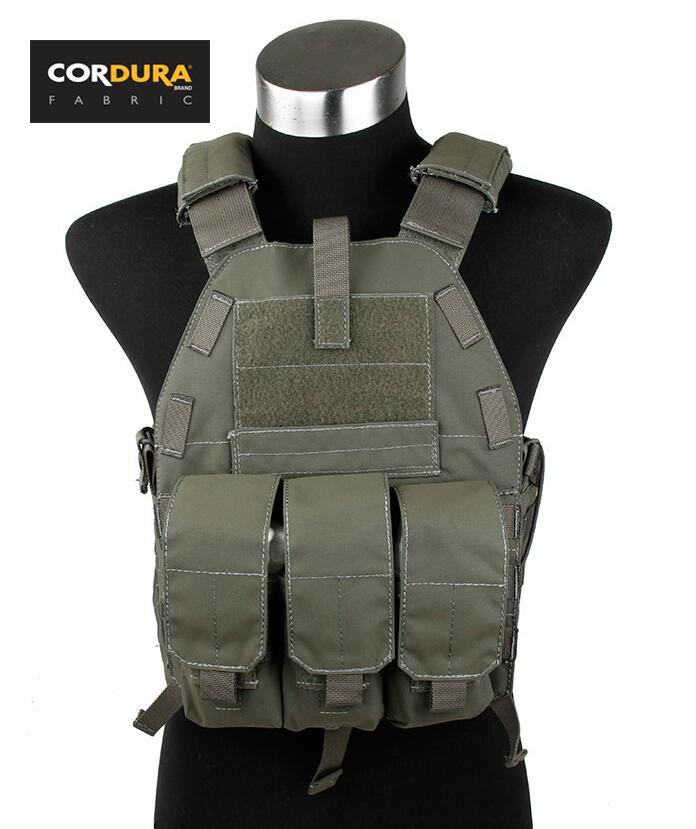 Cordura Ranger Green Tacitcal 6094K Plate Carrier With M4 Pouch(STG051070) ywdg 3a24776 beetles pattern 24 cd carrier bag pouch deep green