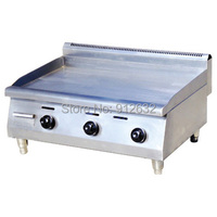 Counter Top Stainless Steel Gas Griddle Grill machine Grill food machine