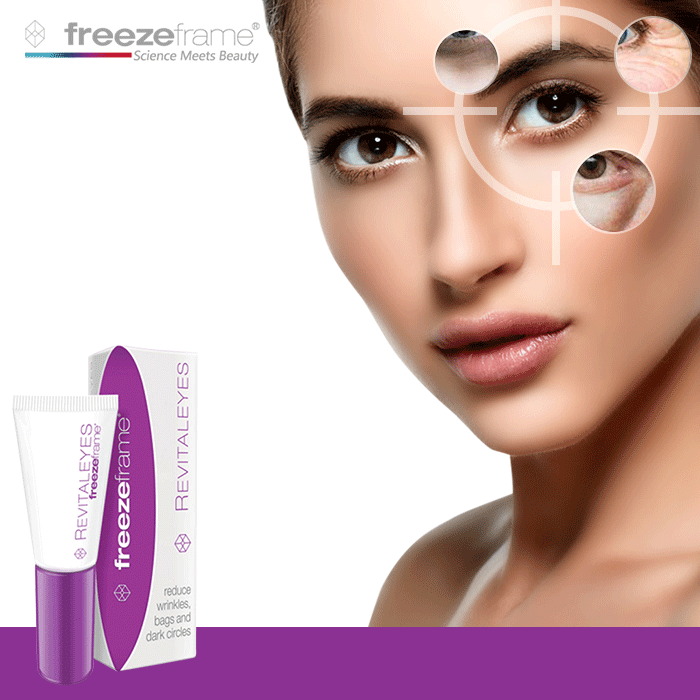 Hot Freezeframe Peptide Revitaleyes Eye Cream Puffy eyes Puffiness Bags Dark Circles Deep Wrinkles Eye Care Problems treatment mabox natural eye gel for appearance of dark circles puffiness wrinkles and bags for under and around eyes eye gel essence gel