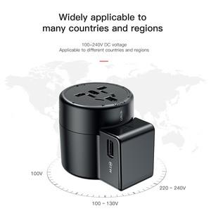 Image 5 - Baseus Adaptador de viaje internacional, enchufe de cargador de pared Universal, conversor adaptador de corriente de CA USB Dual para UE, EE. UU., Reino Unido, AU