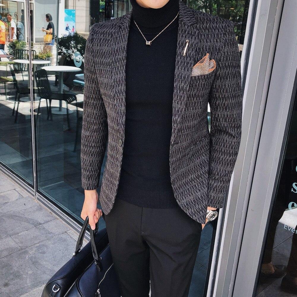 2018 осенние и зимние новые модные повседневные маленький костюм корейский стиль темно-цветочный бизнес отделка пиджак