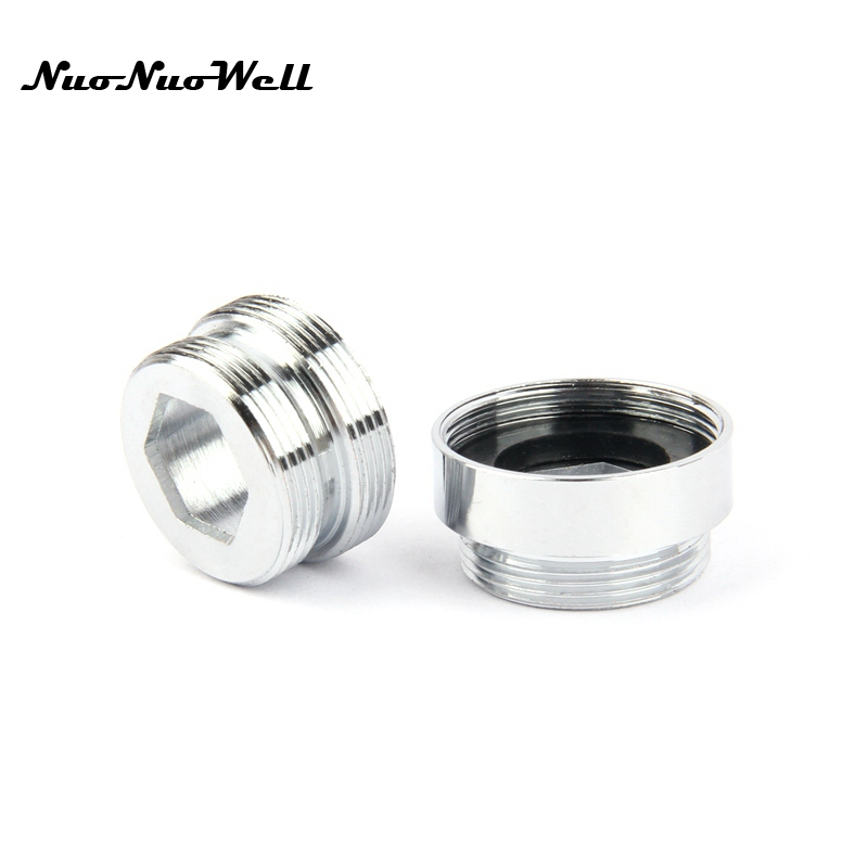1pc NuoNuoWell Stainless Steel M22-M24 Thread Connector For Faucet Fittings Tap Adapter Bubbler Parts Water Purifier Accessory