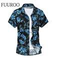 Novo Estilo dos homens de Manga Curta 2016 Verão Casual Moda Floral Camisas Impressas Tamanho Grande Camisas de Vestido CBJ-Z6417