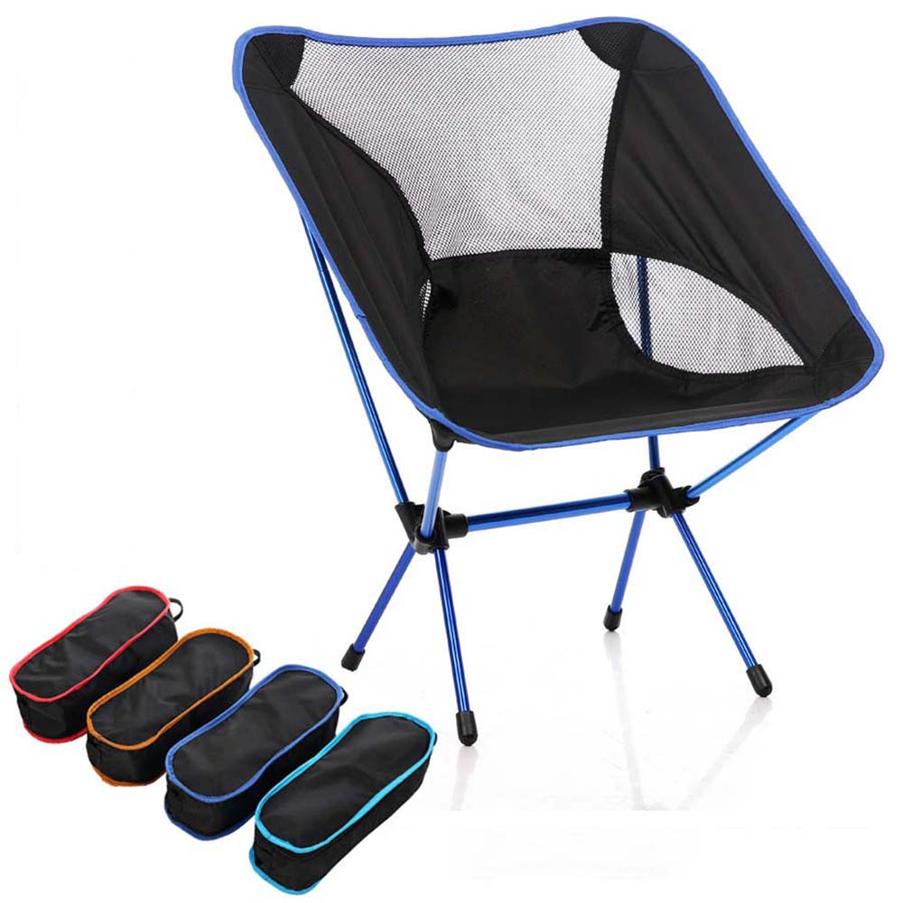 Outdoor Folding Fishing Chair Portable Beach moon chair ultralight Camping seat BBQ outdoor drawing painting