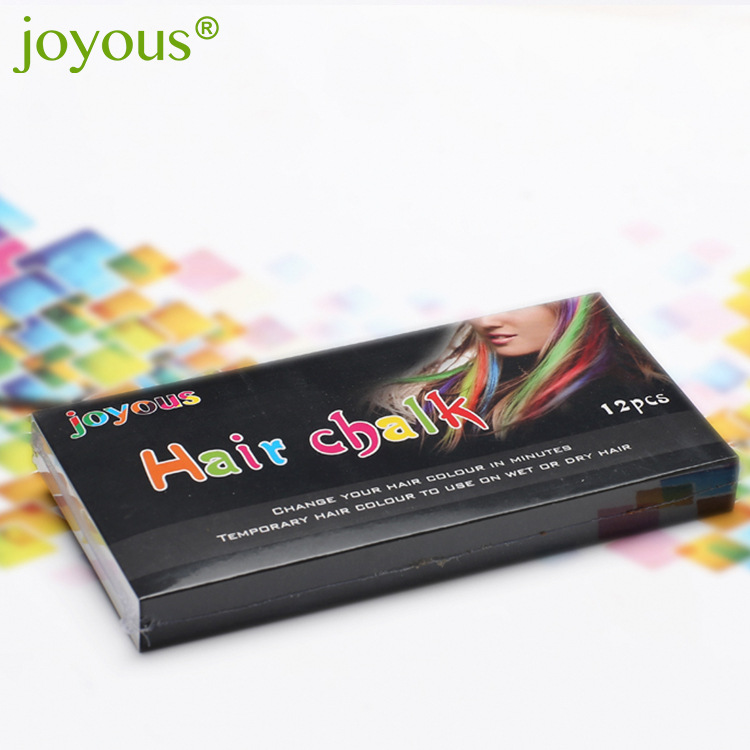 Hair color pen One-time hair dye 12 colors/set to choose temporary hair color chalk dyed hair powder chalk CH010