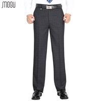 MOGU Men's Thick Suit Pants 2017 Men's Trousers Business Dress Autumn And Winter Straight High Wasit Pants Large Size 29 50