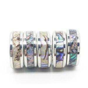 Image 1 - 20 шт., кольцо в виде ракушки для мужчин и женщин, унисекс, титановый узор из нержавеющей стали, полированный изысканный трендовый ювелирный продукт, оптовая продажа