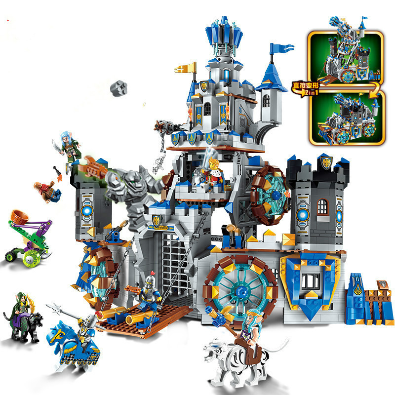 The War Of Glory Castle Knights Battle Bunker Building Blocks Set Bricks Kids Toys Gift Compatible lepins DIY model