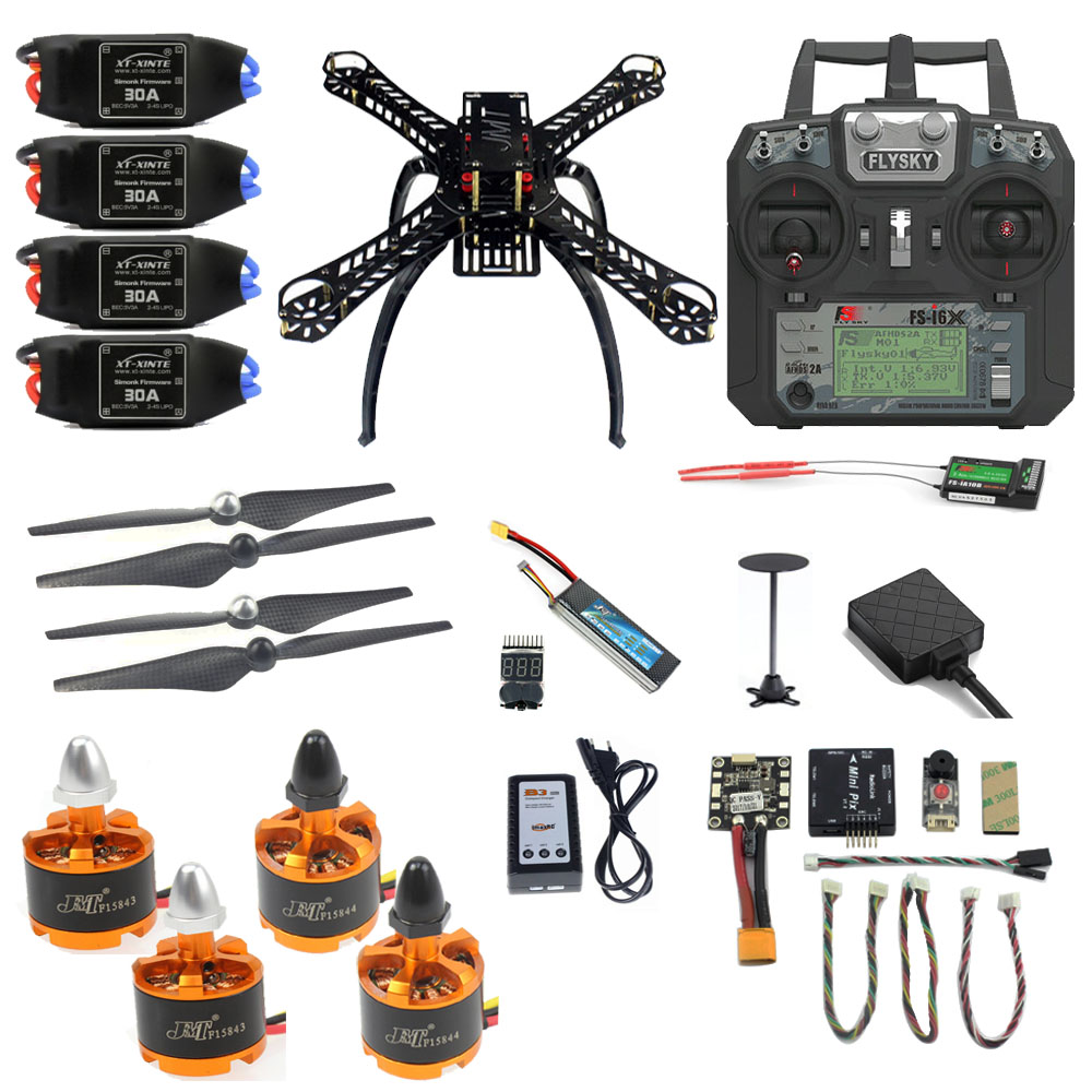 JMT bricolage Mini 360 Kit complet FPV Drone de course 2.4G 10CH RC 4 axes avions Radiolink Mini PIX M8N GPS PIXHAWK Mode de maintien d'altitude