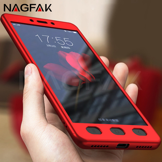 NAGFAK 360 Degree Phone Cases For Xiaomi Redmi Note 4 Note 4X Cover Full Protective Case Note 4 Global Version Phone Bags Capa