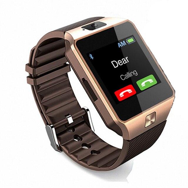 Kaisgo Беспроводные устройства led SmartWatch Поддержка SIM карты памяти  телефона смотреть Электроника наручные часы-телефон a77f763220e69