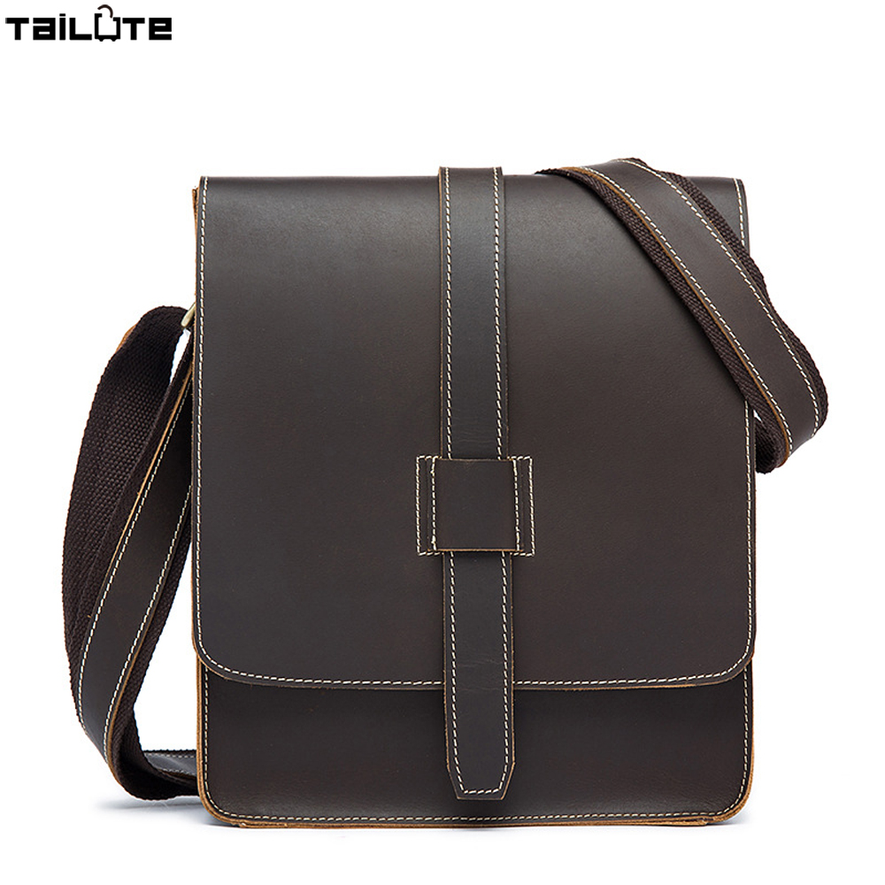 TAILUTE New Fashion Genuine Leather Man Messenger Bags Cowhide Leather Male Cross Body Bag Casual Men Commercial Briefcase Bag manbang new fashion genuine leather man messenger bags cowhide leather male cross body bag casual men commercial briefcase bag