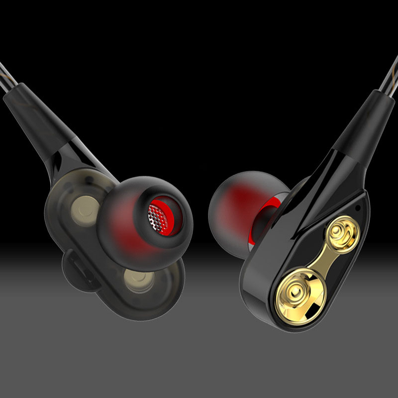 Double Unit Drive In Ear Earphone Bass Subwoofer Stereo Earphones With Mic For Microsoft Lumia 640 Xl Lte Dual Sim Earbuds Heads