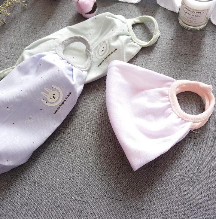 Women's Spring Summer Cartoon Cotton Linen Print Cotton Masks Girls Summer Sunscreen PM 2.5 Breathable Mouth-muffle R715