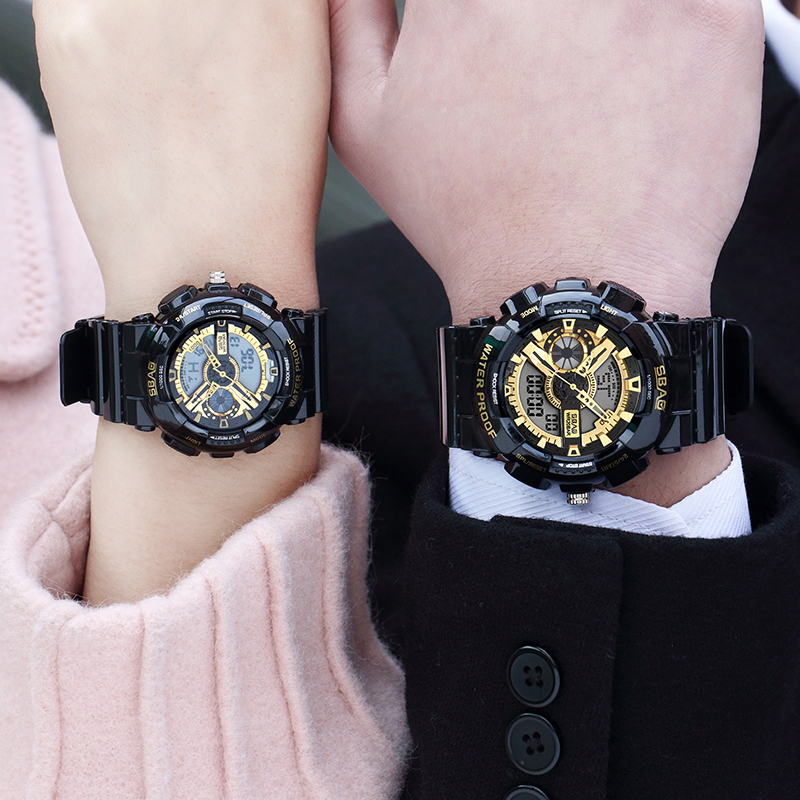 Couple Electronic Watch New Style Digital Men Womens Sport Watches Waterproof Shockproof Female Watch LED Lady Wristwatch