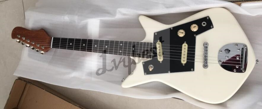electric guitar customized body and headstock shape one piece mahogany short scale neck chrome. Black Bedroom Furniture Sets. Home Design Ideas