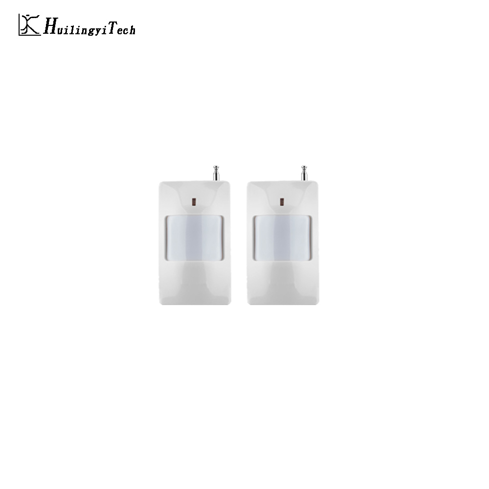 2PCS 433MHz Wireless Intelligent PIR Motion Sensor Alarm Detector For GSM Home Alarm System Security Built-in antenna
