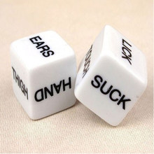 2 PCS Funny Sex Dice Romance Love Humour Party Gambling Adult Games Sex Toys Erotic Craps Pipe For Couples(China)