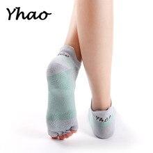 Yhao Brand New High Quality Nebula Yoga Socks Anti-Skidding Fitness Sox Good Grip Pilates Dance For Women 2018
