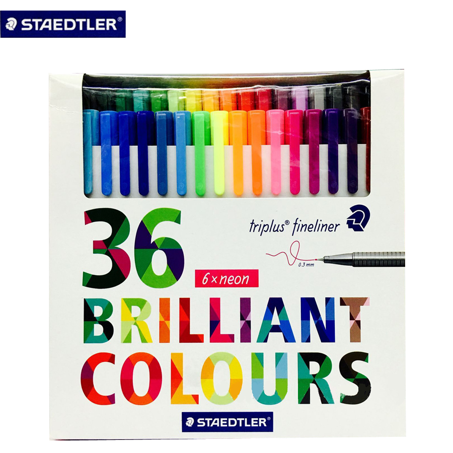 36colors Staedtler Micron Liner Pen Graffiti Painting Color Gel Pens Lines Drawing Pen Sketch Markers Manga Office Art Supplies 36 colors set 0 4mm fine liner colored marker pens watercolor based art markers for manga anime sketch drawing pen art supplies