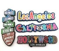 Ímãs de geladeira magnéticos  ímãs de geladeiras 3d de hollywood los angeles califórnia macia para decoração caseira  turismo dos eua