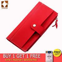 2019 portefeuille femme longue PU rouge portefeuille porte feuille femme femme sac à main pochette argent femme portefeuille billetera mujer carteras