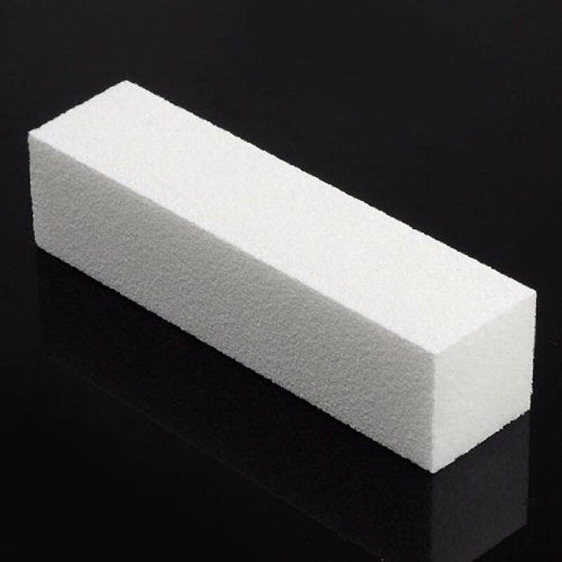 10 Pcs White Nail File Buffer Block Sanding Block Files Manicure DIY ...