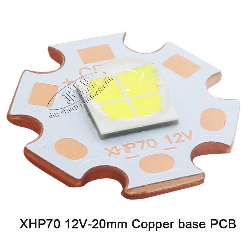 "קריס XHP50 XHP70 דור XHP50.2 XHP70.2 דור 18 w 30 w led לבן ניטראלי לבן חם פולט 6 v 12 v 20 מ""מ 16 מ""מ coppe"