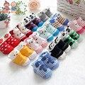 6pairs  New stereo cartoon baby socks children slip floor socks without bone glue cotton socks newborn aTWS0195