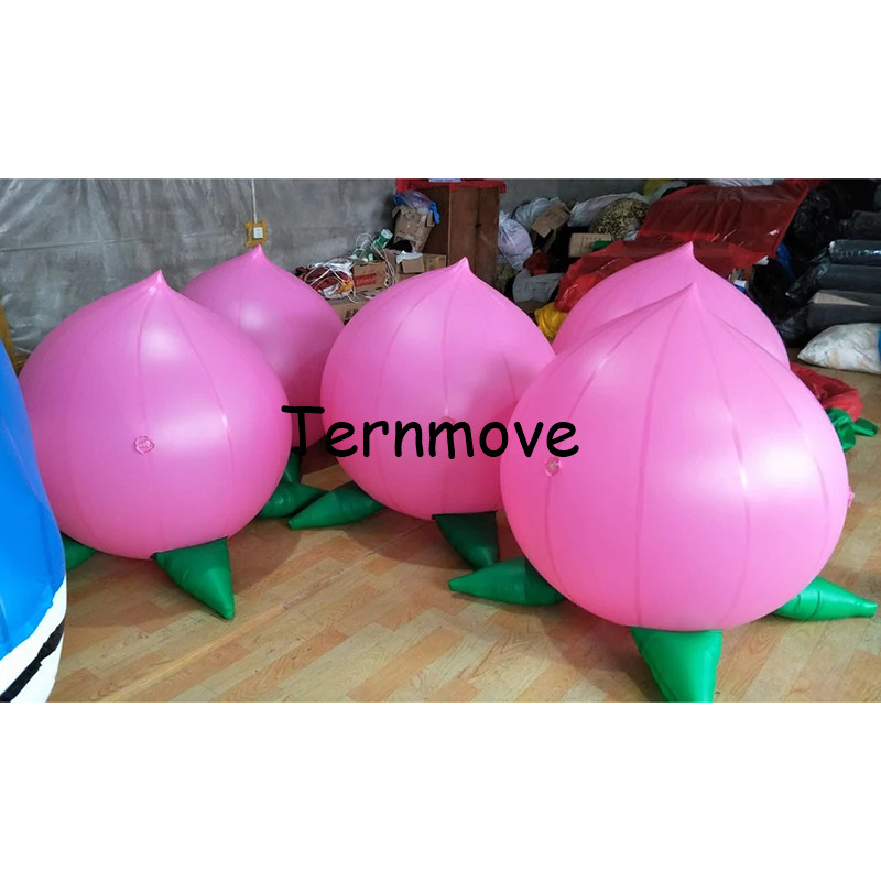 wonderful helium balloon advertising giant inflatable farm produce Peach replica for Agriculture products trade show Eventwonderful helium balloon advertising giant inflatable farm produce Peach replica for Agriculture products trade show Event