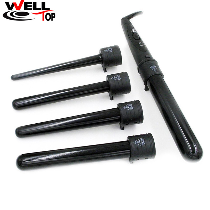 5 Part Hair Curling Iron Machine Perfect Tourmaline Curling Wand Tongs Curler Roller Hair Care Tools Hair Styling Tools ckeyin 9 31mm ceramic curling iron hair waver wave machine magic spiral hair curler roller curling wand hair styler styling tool