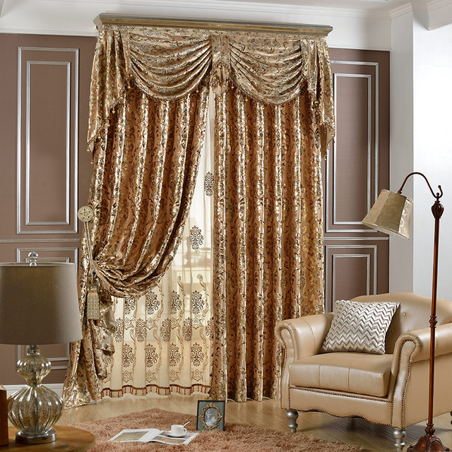 Curtains With Valance For Living Room Plants India Modern Window Curtain Bedroom European Style Broad Velvet Drapes Premium